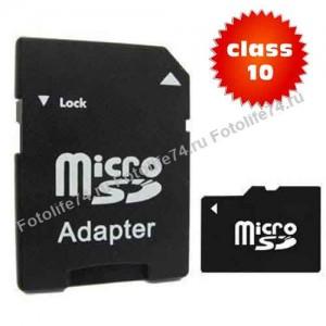 Купить Карта памяти Micro SD 32Gb Class10 + Адаптер в Магнитогорске