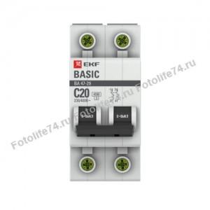 Купить Автоматический выкл. EKF 2P, 25А, С 4,5 кА в Магнитогорске