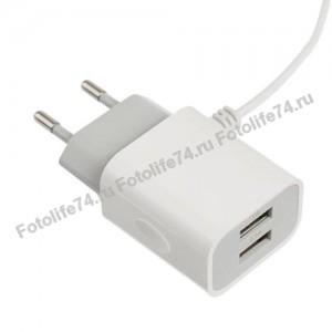 Купить Зарядное устройство сетев. 2000 mAh Micro USB + USB в Магнитогорске